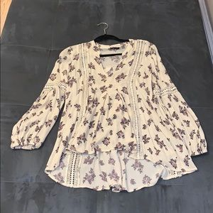 Bohemian loose fitting floral top